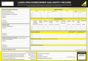Homeowner and landlord gas safety reports in kent